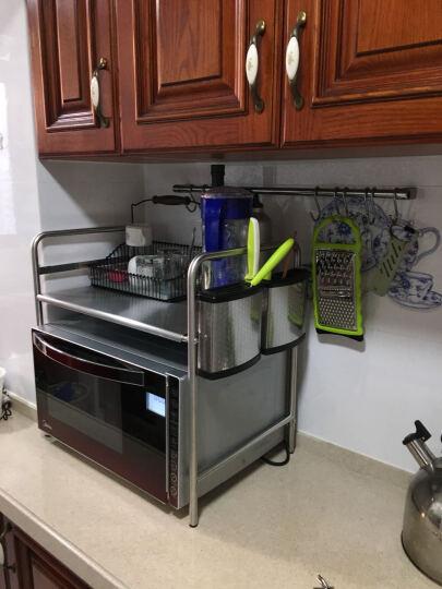 千恩千喜304不锈钢 厨房置物架落地 微波炉架子 微波炉置物架 层架 调料 储物 烤箱架 304大号双板+8钩 晒单图