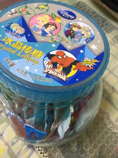 【好心情】迪士尼多彩虹果汁清甜冰晶棒棒糖60支桶装 浅蓝色罐 晒单图