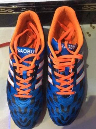 豹步足球鞋新款男子AG长钉鞋比赛用鞋传奇儿童训练鞋刺客防水皮足 桔色 44 晒单图