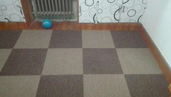 炫艺商用工程地毯写字楼办公室客厅卧室满铺地毯拼接方块纯色酒店宾馆北京可上门铺装 BA1-11 50CM*50CM PVC底 晒单图