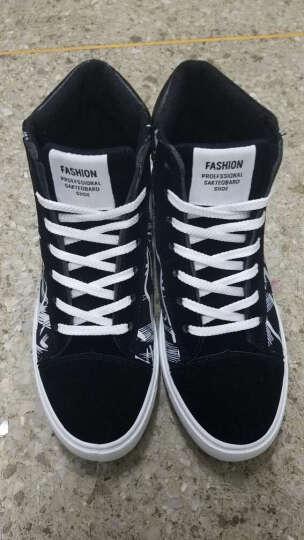 寻梦者  男鞋板鞋 男春季新款休闲鞋青少年男士帆布鞋韩版潮流学生平板鞋 黑红色(磨砂) 44 晒单图