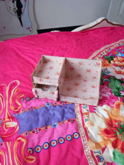情侣礼物化妆收纳盒化妆镜创意抽纸盒母亲节520礼物生日礼物送女友女生 粉花 晒单图