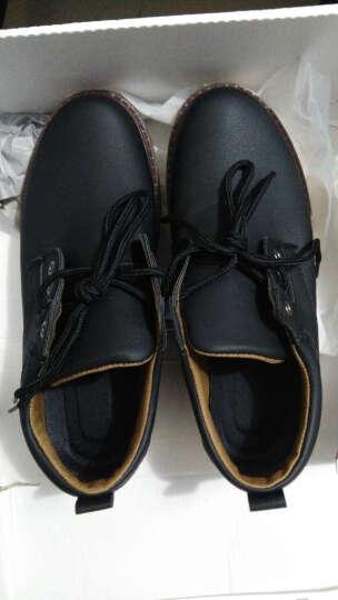 卢卡士 休闲鞋男鞋 男士大头皮鞋男 英伦厚底户外工装鞋学生板鞋 棉鞋Lxd032 黑色加绒 41 晒单图