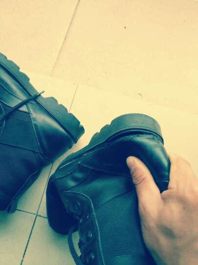 桔觅男靴真皮马丁靴耐磨英伦07式作战靴低帮春款靴新款加绒保暖雪地 689棕色 42码 晒单图