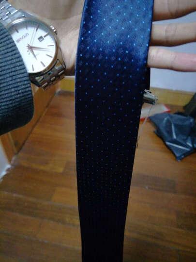 英巴克领带男正装商务韩版新郎结婚上班应聘职业窄领带礼盒 条纹领带0323-9 晒单图