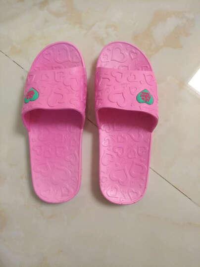 恋家 浴室地板拖情侣居家拖鞋女士 西瓜红 38码 LJ82011 晒单图