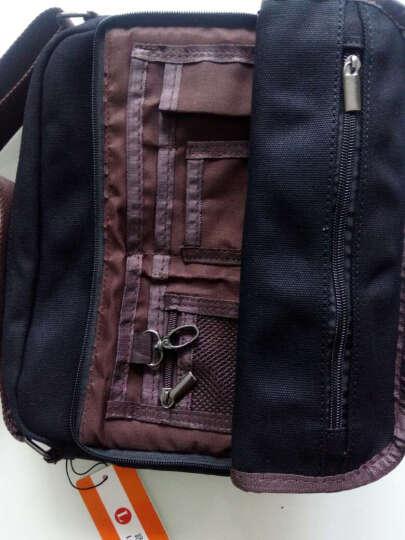 路过男士包潮单肩包帆布2018新款多功能斜挎包学生书包韩版休闲包LG88002 经典黑色 晒单图