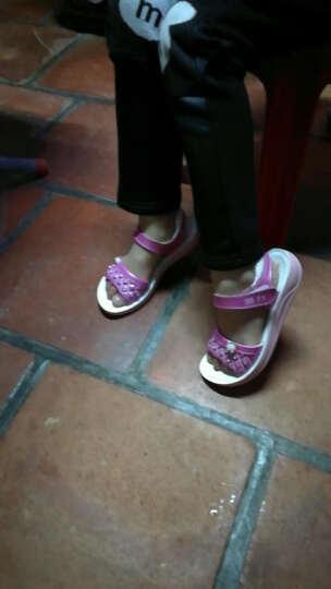 回力夏季凉鞋回力童鞋女儿童韩版潮公主鞋 玫瑰红色 32 晒单图