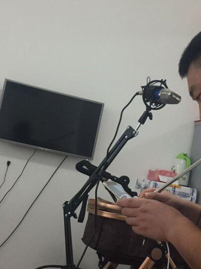 客所思K10 手机平板电脑K歌唱吧电容麦克风外置声卡套装录音设备 k10+DC200电容麦套餐 晒单图