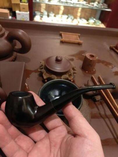手工烟斗石楠木老式烟丝斗烟具抖音 黑紫檀木--弯式款 晒单图