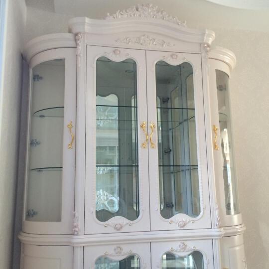 鹏景雅居  欧式酒柜 法式四门玻璃红酒柜 客厅间厅柜储物柜Q40 玫瑰雕花 四门 晒单图