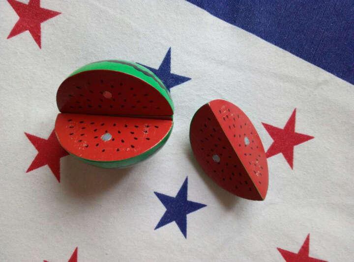 熠奇木质儿童过家家玩具 散装蔬菜水果切切 磁性草莓巧克力冰淇淋 儿童玩具 海鲜3件套 晒单图