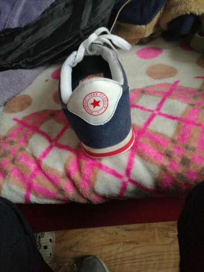 南极人运动鞋透气跑步鞋男 2017网面轻便休闲减震慢跑鞋 79-白兰红 42 晒单图