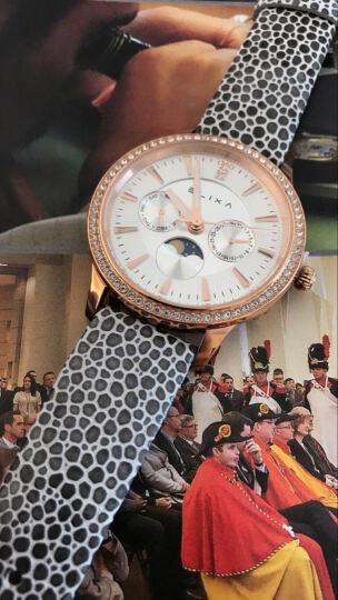 Elixa艾莉诗女士手表女石英表欧美时尚女表休闲皮带 雅典黑色E088-L335(赠送灰色表带) 晒单图