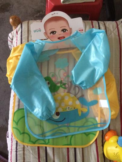 童趣熊 EVA反穿衣 四季免洗防水饭兜 儿童透明饭衣 宝宝吃饭长袖罩衣 长袖花朵 晒单图