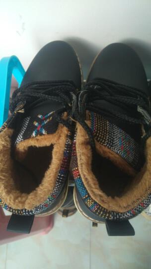 九缨斯 冬季男靴保暖加绒雪地靴秋季新款马丁靴男户外男士高帮棉鞋靴子男 888棕色(不加绒) 42 晒单图