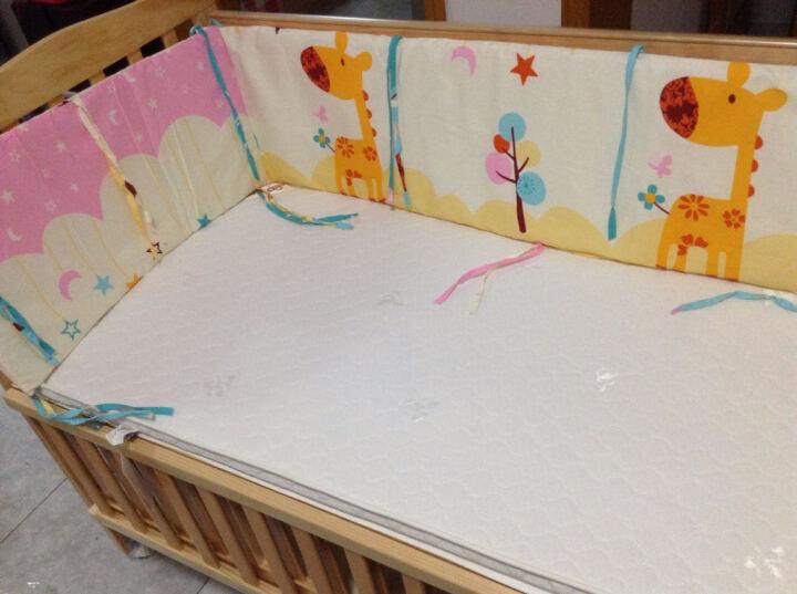 小龙贝尔 松木婴儿床多功能实木欧式宝宝床新生儿童床可变书桌bb床 清漆+3D椰棕床垫 120*65cm 晒单图