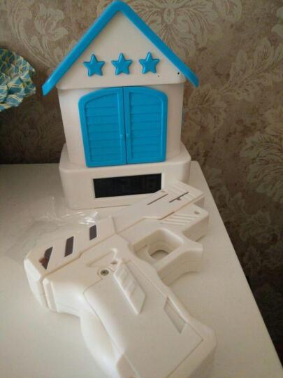 乌龟先森 儿童闹钟 APP控制创意布谷鸟闹钟懒人射击打靶闹钟儿童学生床头时钟创意电子礼品 USB迷彩色 晒单图