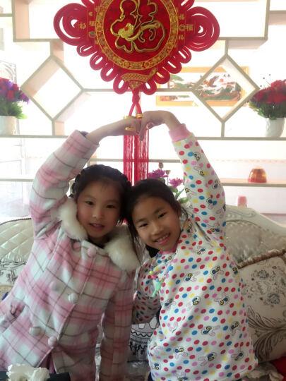 小熊精灵 女童套装夏装中大儿童女孩休闲运动服童装卫衣两件套 红色上衣+黑色裤子 140码(建议高140cm左右) 晒单图