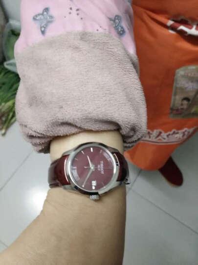 天梭(TISSOT)瑞士手表 库图系列皮带石英女士手表T035.210.16.371.01 晒单图