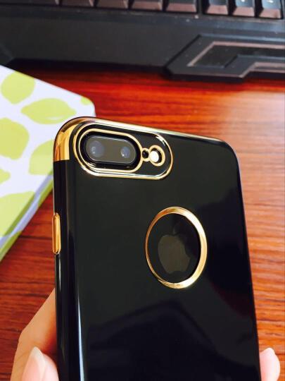 果好 【送钢化膜】 iPhone7手机壳/保护套 苹果7plus男女防摔全包硅胶超薄软壳 苹果7-4.7-电镀黑玫金-第二件半价 晒单图