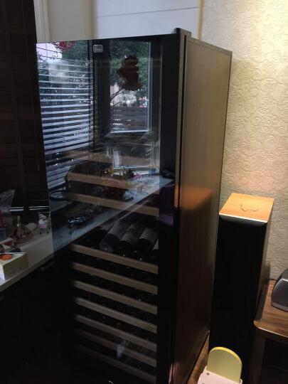 蒂朵(Diduo) JCW-48B红酒柜恒温酒柜茶叶冰箱双温风冷葡萄酒家用储藏保鲜冷藏柜子冰柜 棕木纹C型 晒单图