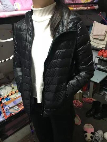 omlesa冬季新款百搭女装时尚简单超轻薄连帽短款修身羽绒服女YR4047 粉色 L 晒单图