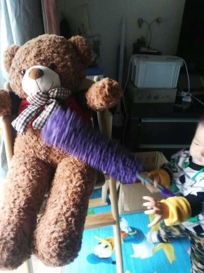 可爱布丁 毛绒玩具熊公仔大号毛衣泰迪熊 抱抱熊布娃娃 玫瑰绒玩偶 浅灰色英伦版 80cm 晒单图