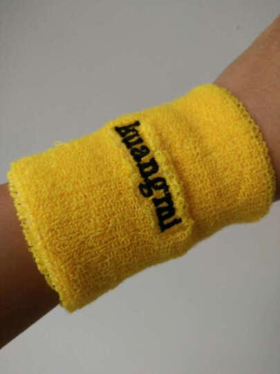 狂迷护腕 棉手腕护套吸汗擦汗运动护具 单只装 黄色 均码 晒单图