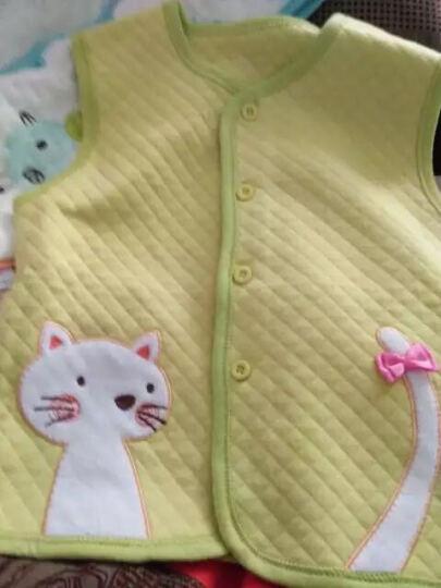 纤丝鸟(TINSINO) 纤丝鸟儿童马甲 男女童空气棉打底背心纯棉春秋马甲婴儿宝宝衣服 净面白色 110 晒单图