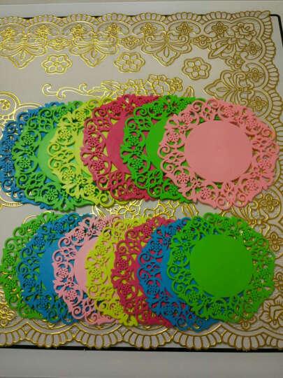 HHFA 多尺寸圆形杯垫碗垫盘子垫锅垫 碟子垫子 餐桌隔热垫套装 大号绿色/直径19cm 晒单图