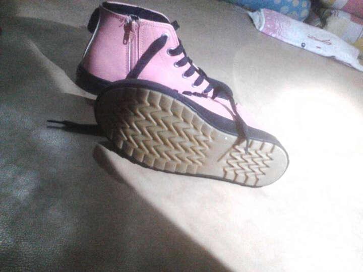 回力童鞋女童靴儿童棉鞋女童靴子儿童雪地靴高帮加绒棉鞋 红色316 28码/内长18cm 晒单图