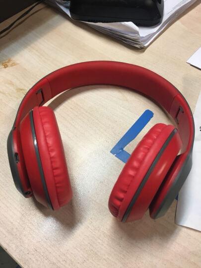 mate苹果三星魅族无线蓝牙耳机头戴式 插卡重低音手机电脑电视无线音乐耳麦MP3播放器 黑红色-送内存卡 晒单图