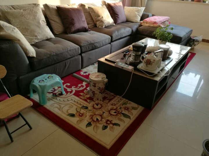 欧式客厅沙发茶几地毯卧室床边满铺地毯