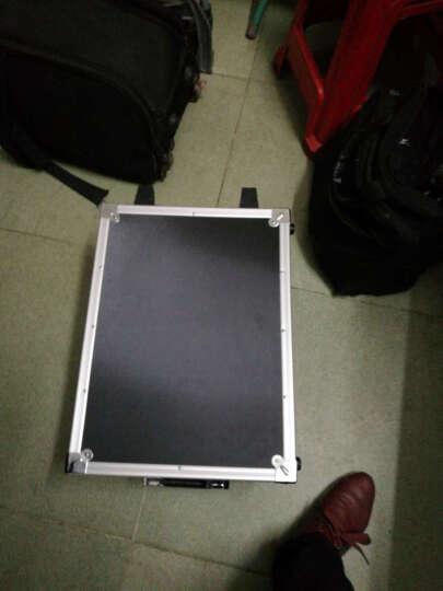 BORY 多功能铝合金拉杆维修工具箱 五金工具整理箱 安全设备仪器仪表箱 黑色 带拉杆铝箱485*362*225MM 晒单图