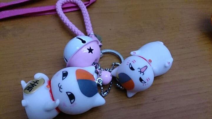 欧诗米尔创意搪胶卡通公仔钥匙挂件小白凯蒂猫KT猫钥匙扣小黄人小礼品 女款招财猫+橘色绳 晒单图
