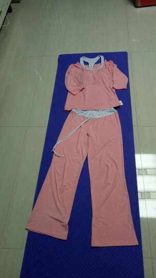 范迪慕(FANDIMU) 瑜伽服女套装莫代尔专业三件套春夏中袖长袖修身显瘦上衣健身舞蹈服 黑配紫红色-长袖三件套 M 晒单图
