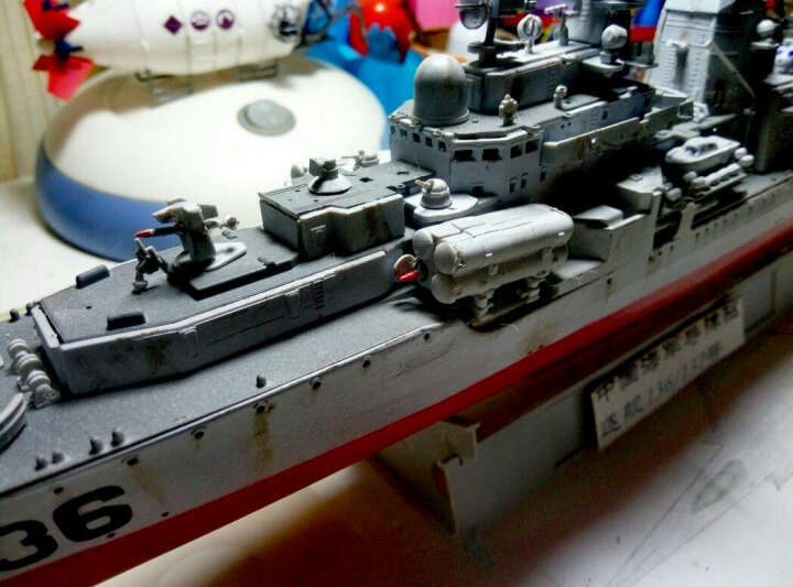 小号手拼装军舰80707 1/350海军导弹驱逐舰船136杭州号拼装军事舰艇模型 晒单图