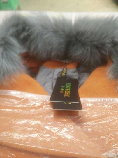 艾致倩 2017秋冬装新款毛呢外套女中长款韩版修身羊毛呢大衣 驼色 XL 晒单图