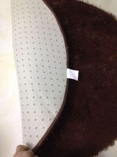 雪之恋 圆形高毛丝绒地毯 电脑椅吊篮卧室床边毯 健身瑜伽毯 紫色 直径160CM圆 晒单图