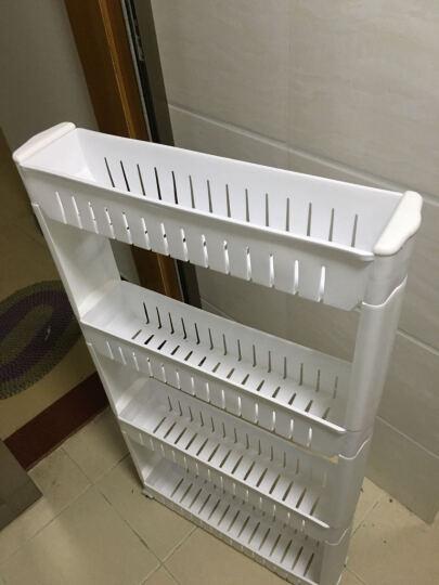 厨房卫生间置物架浴室储物架收纳塑料收纳箱缝隙置物架收纳盒 四层组合(人气) 晒单图