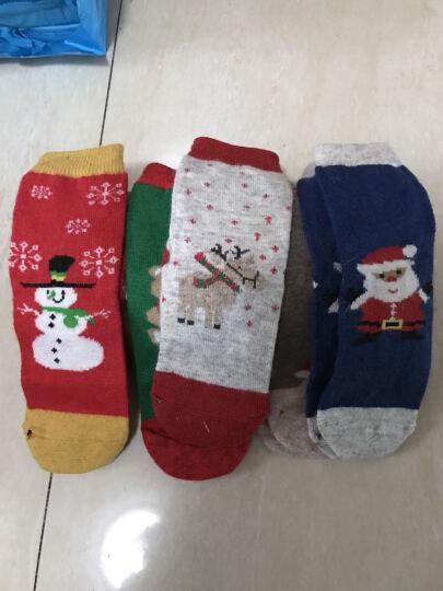 拉夏莉亚儿童袜子宝宝羊毛袜圣诞袜男婴儿新生儿男童女童加厚秋冬3-5-7-12岁 深红色 7-12岁脚长 17-23cm 晒单图