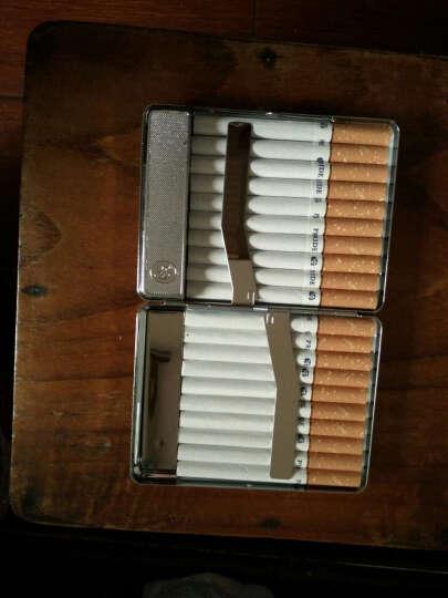 烟盒打火机创意10支装20一体个性便携式男士自动弹烟防风烟盒定制 铬色-usb充电款 晒单图