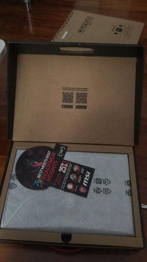 微星(MSI)GP62MVR 7RF-433CN 15.6英寸游戏笔记本电脑(i7-7700HQ 8G 1T+256GSSD GTX1060 WIN10 背光)黑 晒单图