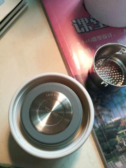 特美刻(TOMIC)保温杯不锈钢真空商务水杯子男女士钢盖带茶漏保温茶杯 珠光白圆筒礼盒装 晒单图