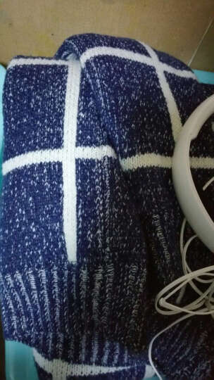UYUK加厚针织开衫男士2018秋冬季新款前卫韩版v领毛衣羊绒毛衫修身打底加厚针织衫外套学生线衣男装 浅灰色 XL 晒单图