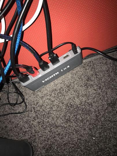 晶华(JH)3011 HDMI转接器高清分配器1进4出 一进四出  一分四高清视频分屏器支持3D 电脑小米盒子连接电视 晒单图