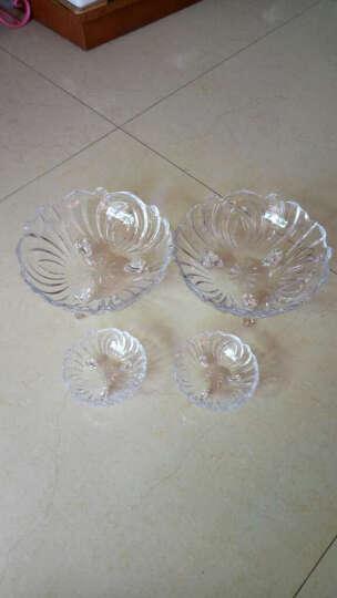 尚品志(SPZ) 欧式果盘水晶玻璃水果盘子 干果盘 婚庆托盘创意办公用招待果斗糖果篮 透明大号+3个小果盘+3个水果叉 晒单图