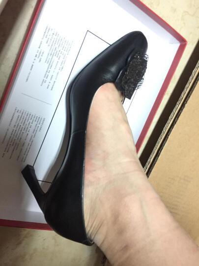 Bata拔佳细跟高跟鞋通勤OL时尚职业正装舒适女鞋 灰色713-2502 37 晒单图