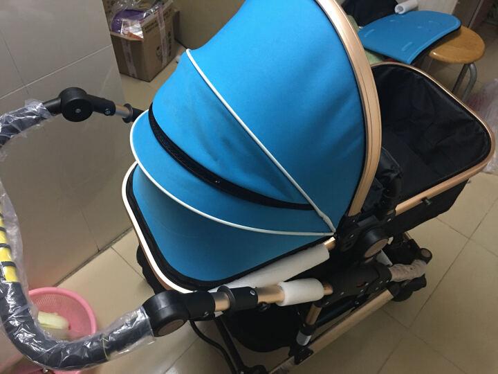 亿宝莱(yibaolai) 婴儿推车儿童高景观可坐可躺婴儿车宝宝童车手推车伞车 V18-1(天空蓝)高景观+双刹+避震 晒单图